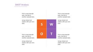 Free Simple SWOT Analysis PowerPoint Template