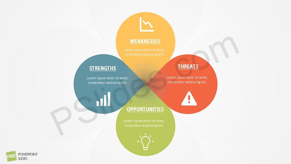 Swot analysis powerpoint diagram ccuart Image collections