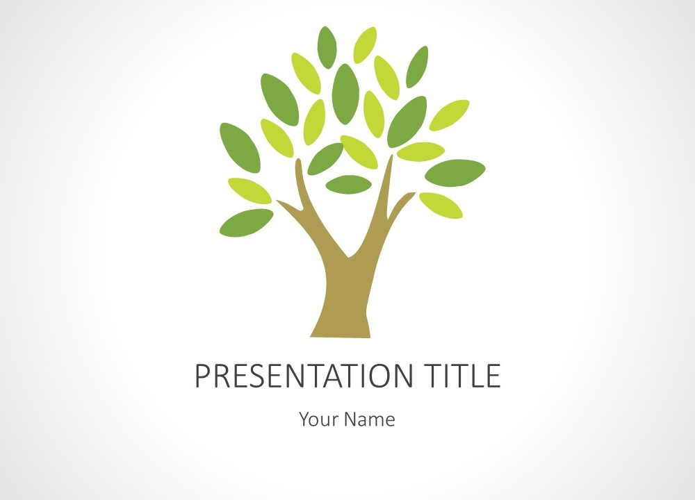 Tree powerpoint background a simple tree powerpoint template this two slide powerpoint template contains a fully editable diagram of a tree this template can be used in toneelgroepblik Image collections