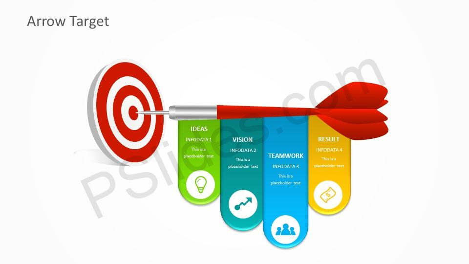 free arrow target powerpoint template