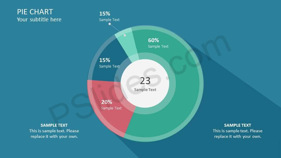 Flat Pie Chart PowerPoint Template