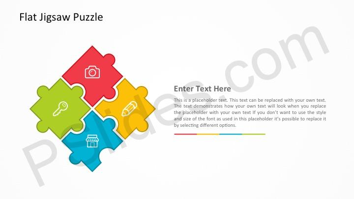 Free flat jigsaw puzzle powerpoint template previousnext our flat jigsaw puzzle toneelgroepblik Choice Image
