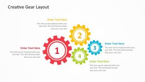 Free Creative Gear PowerPoint Diagram