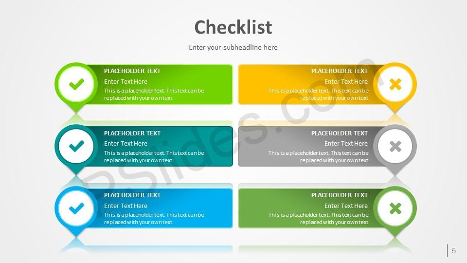 free checklist powerpoint template