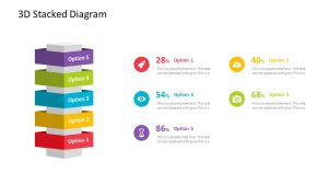 3D Stacked PowerPoint Diagram