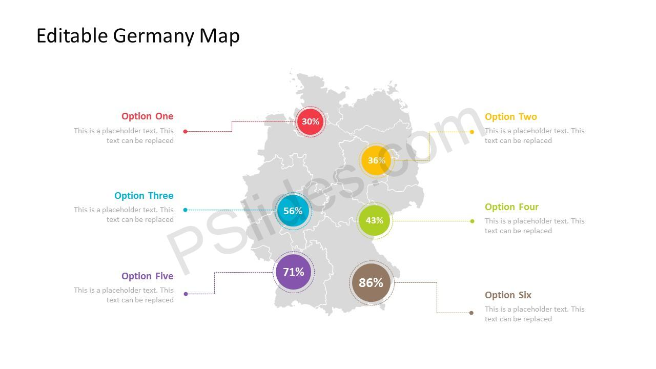 Germany powerpoint maps powerpoint template for germany with regions toneelgroepblik Gallery