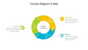 Circular 3 Stage Arrow Diagram