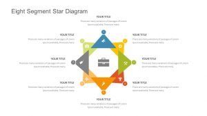 Eight Segment Star Diagram for PowerPoint
