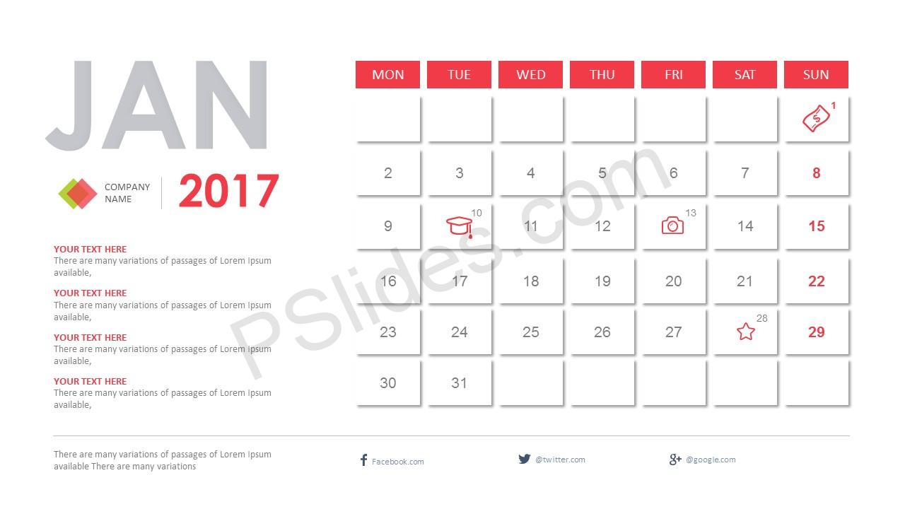 2017 calendar powerpoint template free 2017 calendar powerpoint template to help with your 2017 planning slide1 toneelgroepblik Choice Image