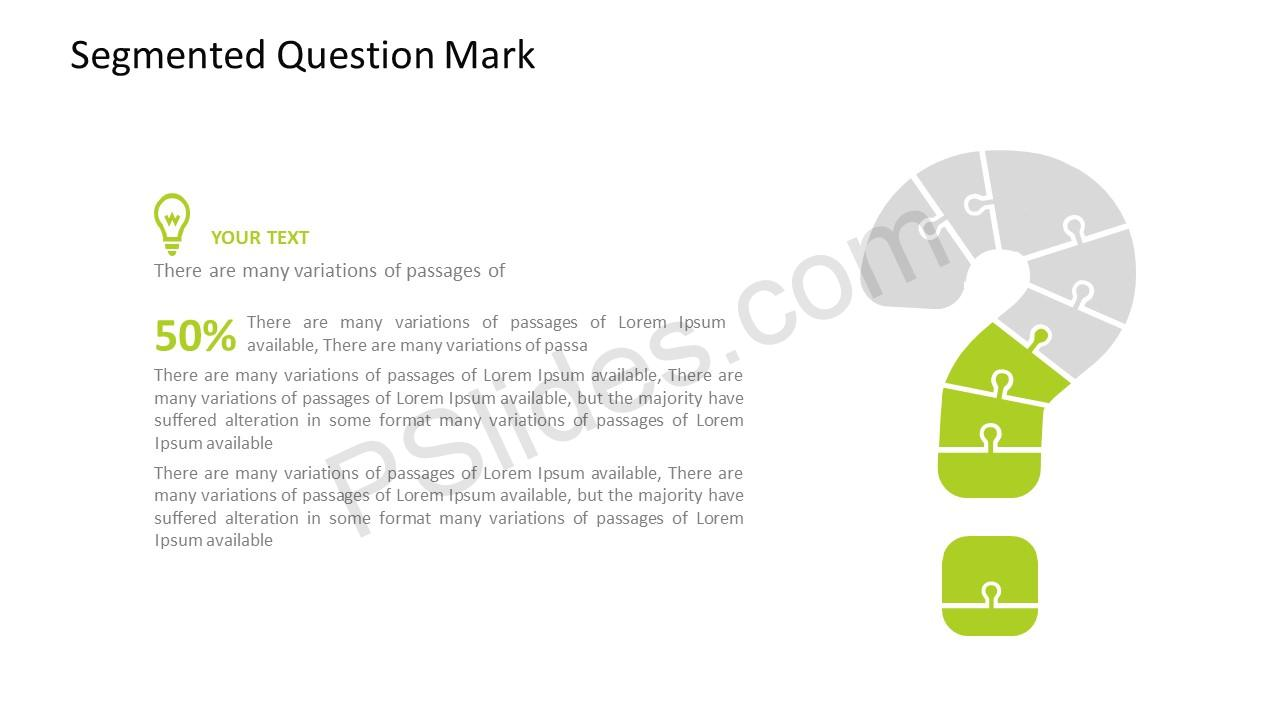 Segmented question mark powerpoint template question mark powerpoint template toneelgroepblik Image collections