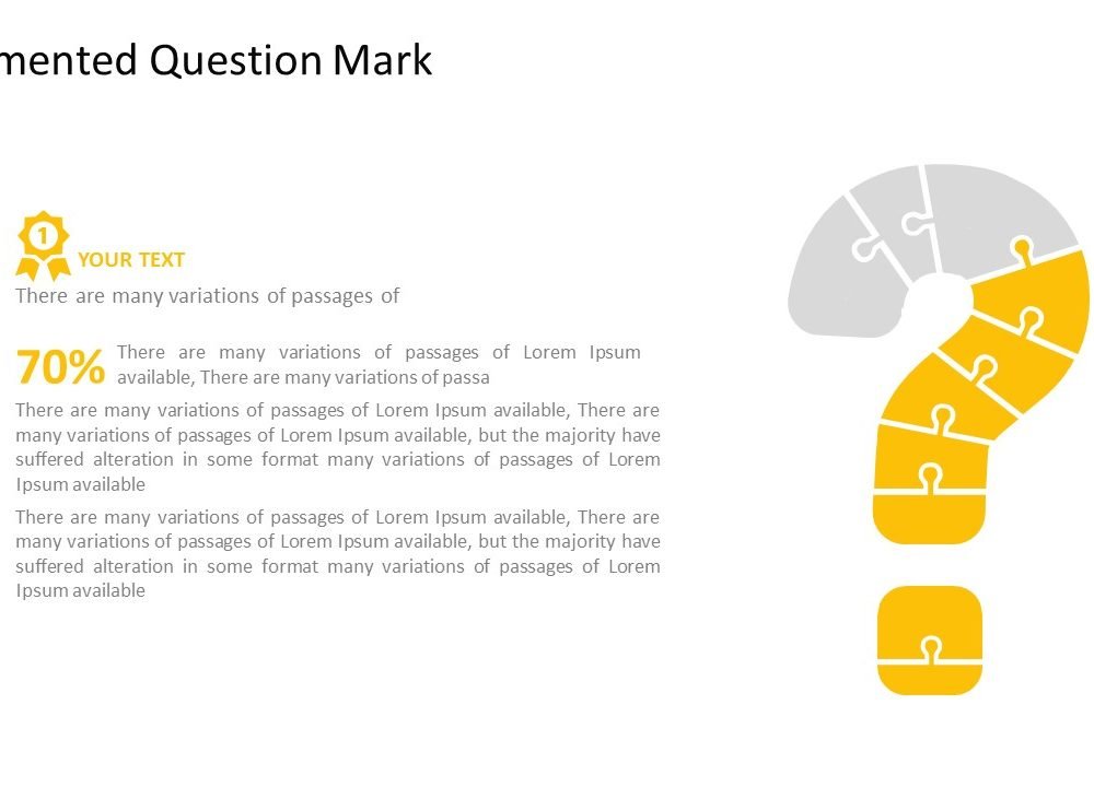 question mark template pslides