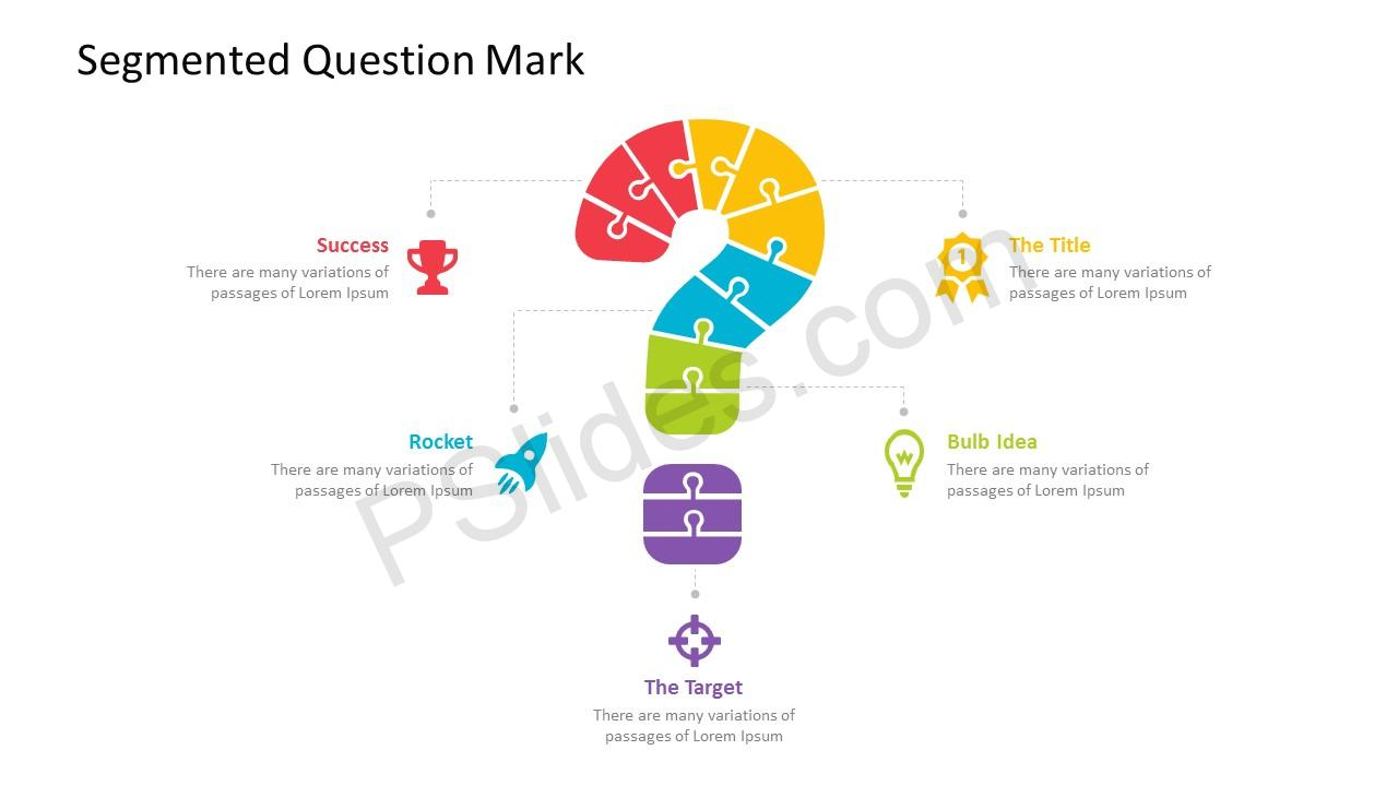 segmented question mark powerpoint template