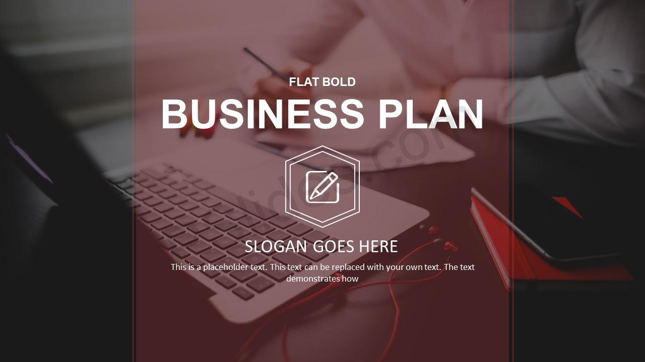 Free flat bold business plan powerpoint template business plan powerpoint template toneelgroepblik Choice Image