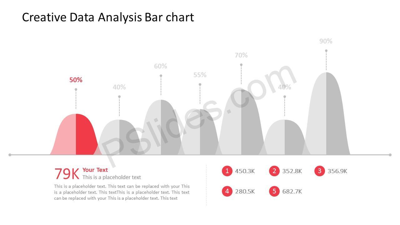 free creative data analysis bar chart for powerpoint