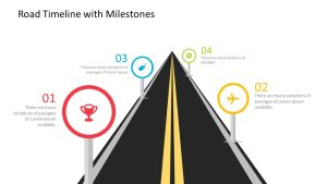 Road Timeline with Milestones for PowerPoint