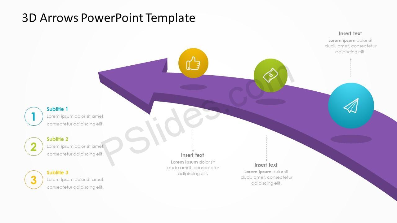 3d arrows powerpoint template pslides 3d arrows powerpoint template toneelgroepblik Image collections