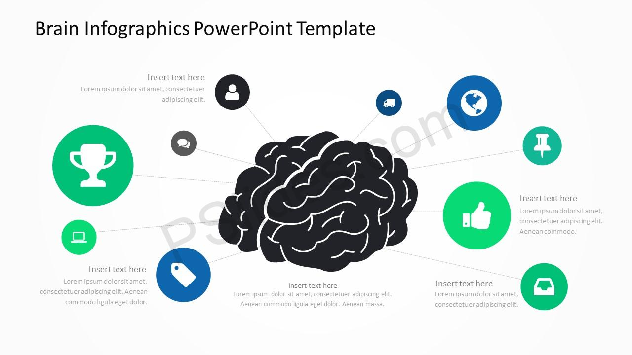 Brain infographics powerpoint template pslides brain infographics powerpoint template 1 toneelgroepblik Images