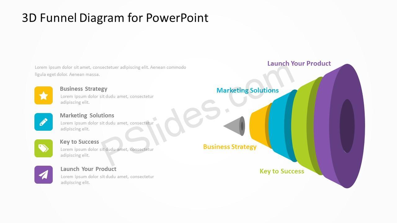 3d funnel diagram for powerpoint pslides 3d funnel diagram for powerpoint 3 pooptronica Images