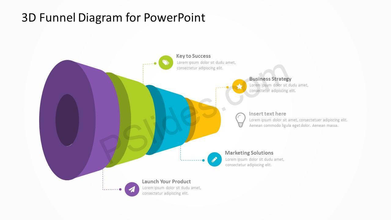 3d funnel diagram for powerpoint pslides 3d funnel diagram for powerpoint 4 pooptronica Images
