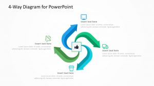 4-Way Diagram for PowerPoint