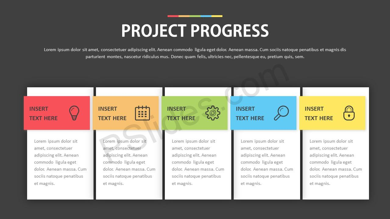 project status template for powerpoint pslides