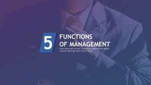 Five Functions of Management for PowerPoint