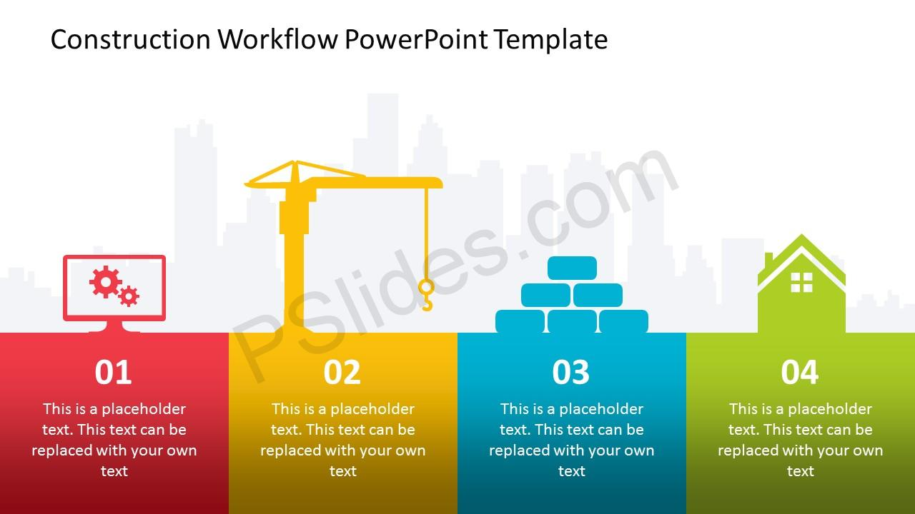 Construction workflow powerpoint template pslides construction workflow powerpoint template slide1 slide2 slide3 slide4 toneelgroepblik Choice Image
