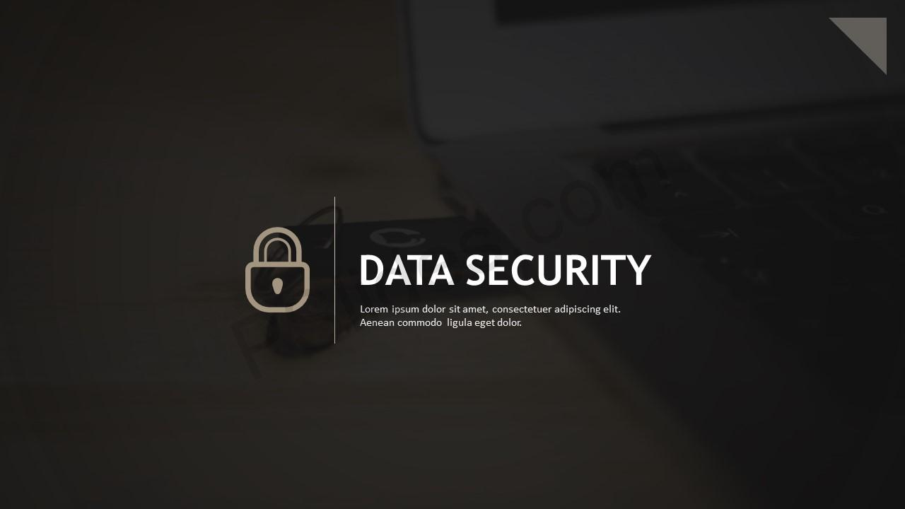 Data Security PowerPoint Template - Pslides