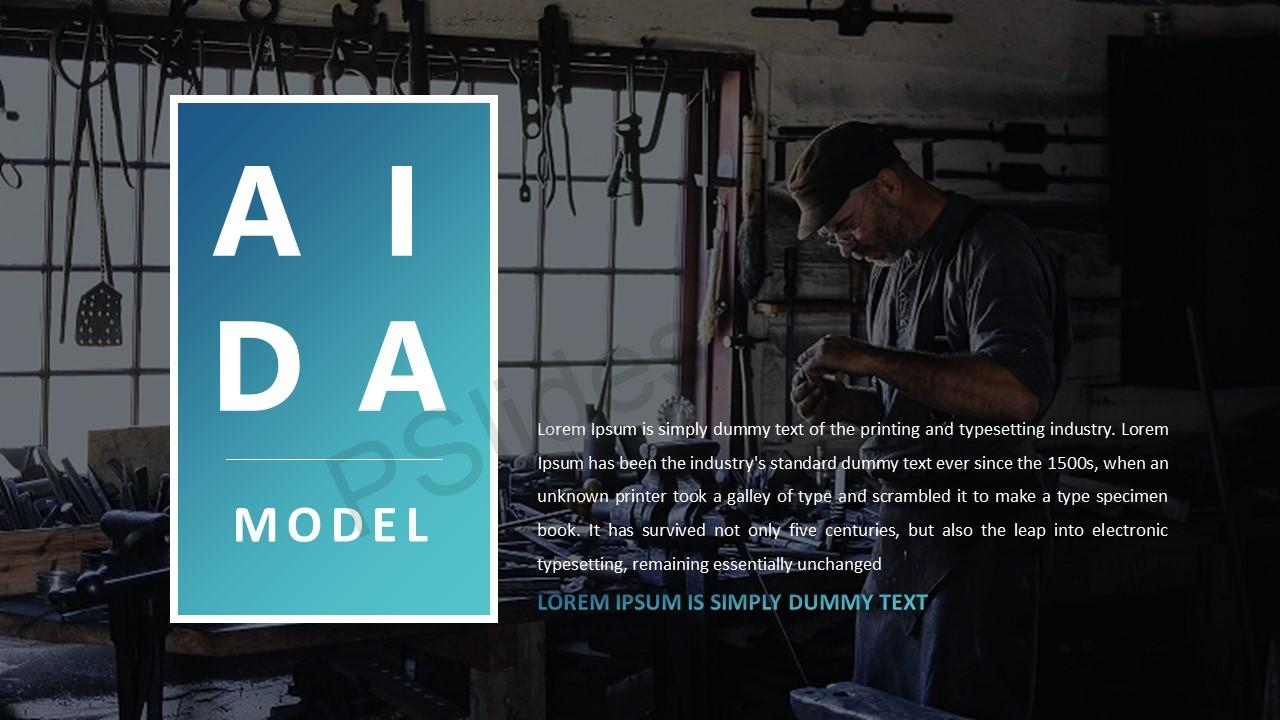 AIDA Model for PowerPoint - Pslides