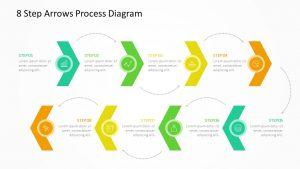 8 Step Arrows Process Diagram