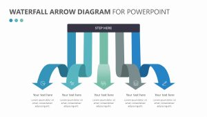 Free Waterfall Arrow Diagram for PowerPoint