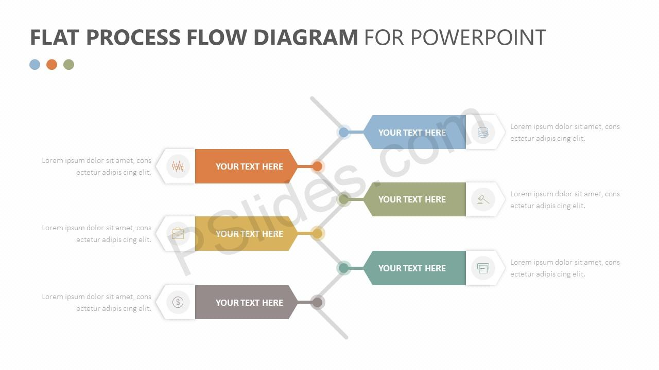 Slidemodel Simple Chevron Diagram Address Db Process Flow Powerpoint Flat For Pslides Project Ppt