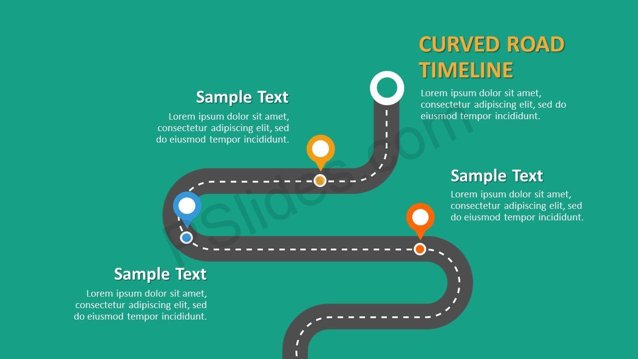 road timeline powerpoint template slide 3