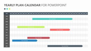 Yearly Plan Calendar for PowerPoint