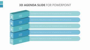 3D Agenda Slide for PowerPoint