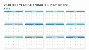 2018 Full Year Calendar for PowerPoint