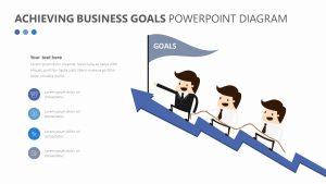 Achieving Business Goals PowerPoint Diagram