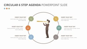 Circular 6 Step Agenda PowerPoint Slide 1