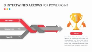 3 Intertwined Arrows for PowerPoint Slide 1