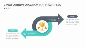 2 Way Arrow Diagram Slide 1