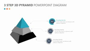 3 Step 3D Pyramid PowerPoint Diagram