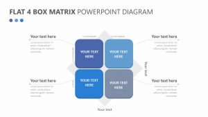 Flat 4 Box Matrix PowerPoint Diagram