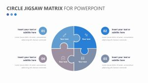 Circle Jigsaw Matrix for PowerPoint