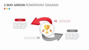 2 Way Arrow PowerPoint Diagram Slide 2