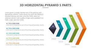 3D Horizontal Pyramid - 5 Parts Slide 1
