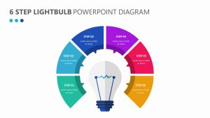 6 Step Lightbulb PowerPoint Diagram (2)
