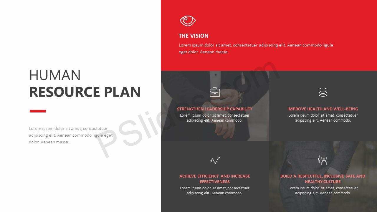 Human Resource Plan PowerPoint Template - Pslides