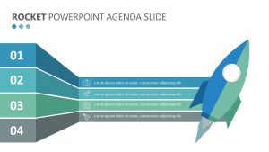 Rocket PowerPoint Agenda Slide