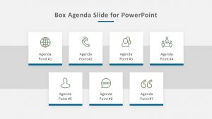 Free Box Agenda Slide for PowerPoint