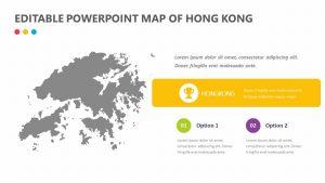 Editable PowerPoint Map of Hong Kong